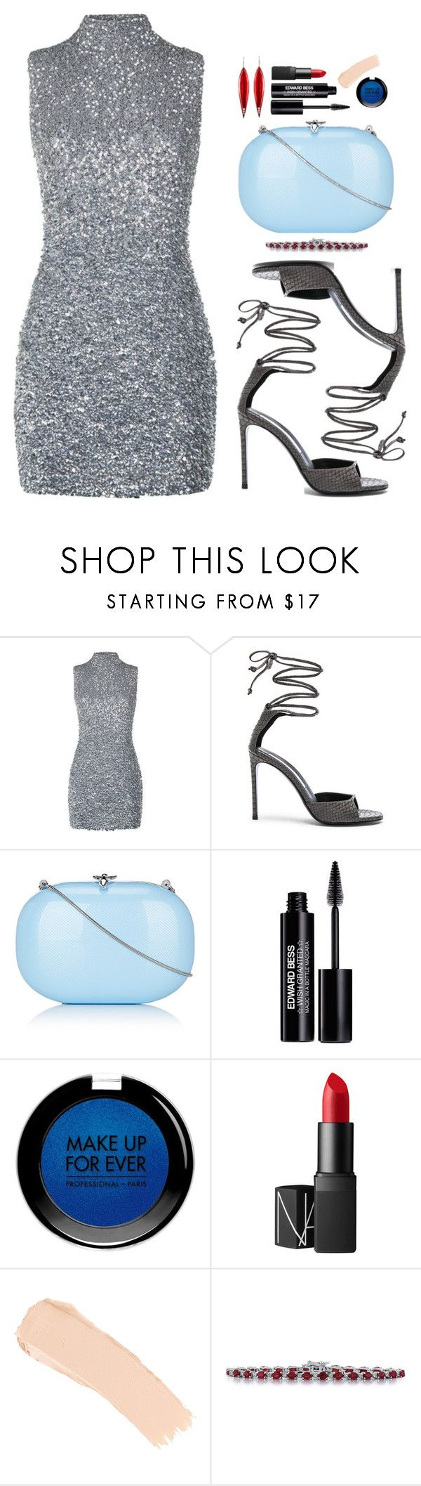 """NEW YEAR: PARTY DRESS"" by noa5353 ❤ liked on Polyvore featuring Harrods, STELLA McCARTNEY, Jeffrey Levinson, Edward Bess, MAKE UP FOR EVER, NARS Cosmetics, La Mer, Magnum, Mark Davis and partydress"