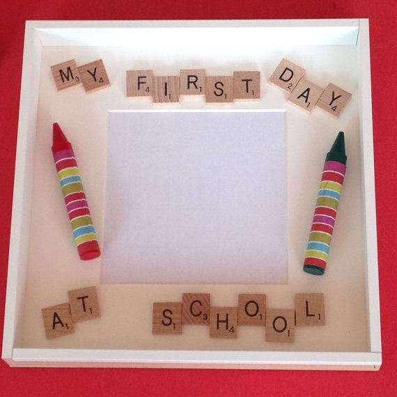 Scrabble Photo Frame My First Day At School Nursery by Cleverchic1