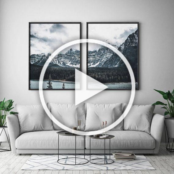 pinzelma harman on home decor ikea  mountain wall art