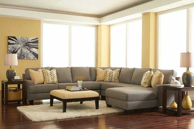 A modular sectional for any living space in a great color combination to add flair!