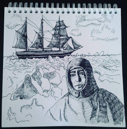 """Корабль """"Эндьюранс"""" и заблудившаяся экспедиция в Антарктиду 1914."""