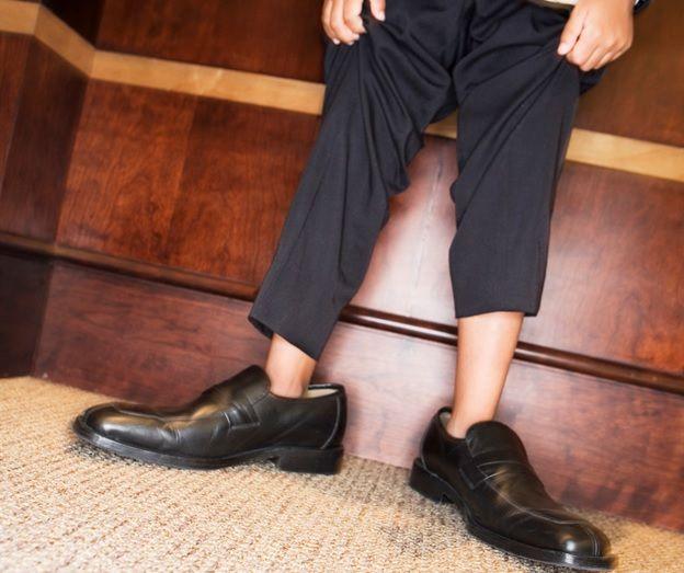 Как уменьшить кожаные туфли