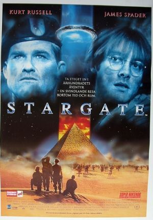 STARGATE. funny how this was science fiction when it came out and now there are shows like Ancient Aliens saying it's real. Good movie though. 4 of 5  (1994)