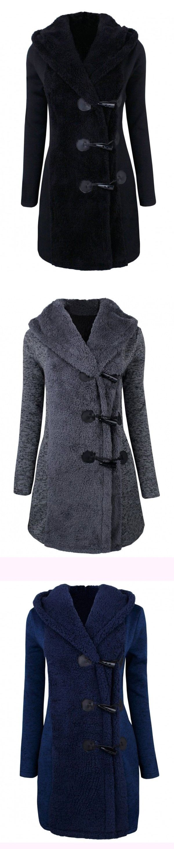 $33.99 Only with free shipping&easy return~!Classic down jacket Toggle-front hooded jacket, classic horn button, plush stitching. Winter must-have classic fashion style!