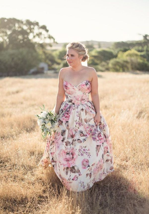 Pretty in Print | Floral Print Wedding Dresses | www.onefabday.com