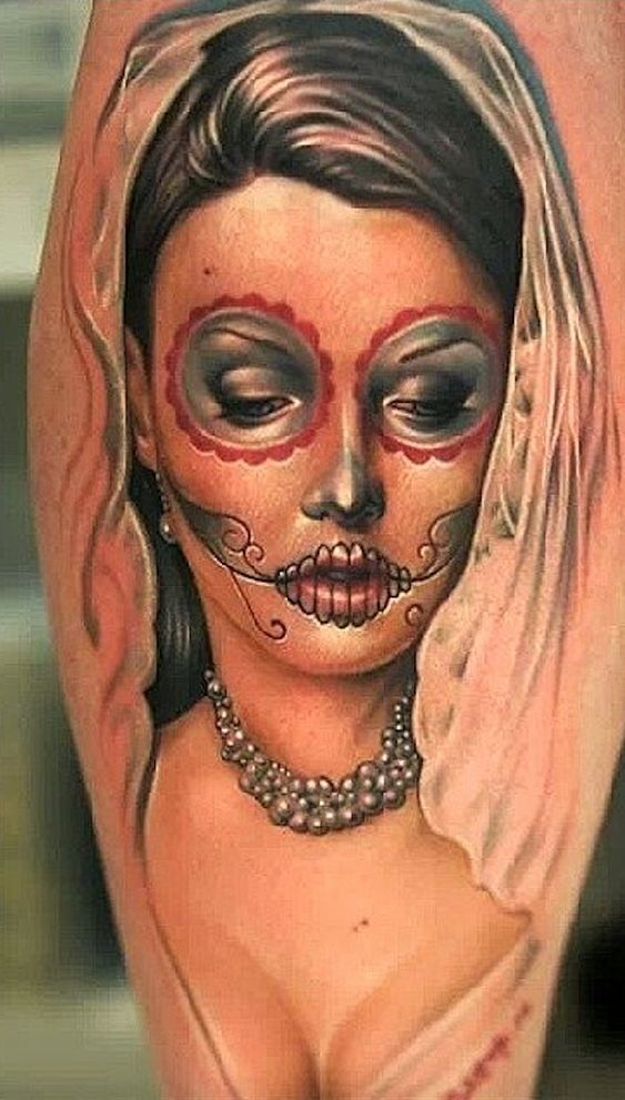 60 day of the dead tattoos you will want to get asap - 563×991