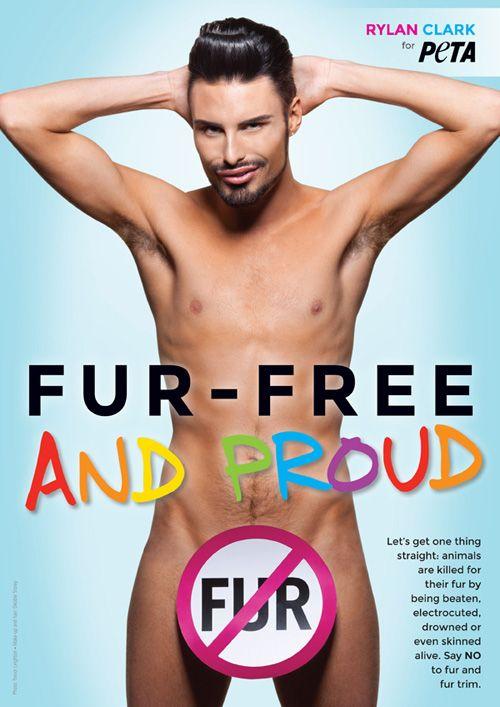Peta Anti-Fur Ads | Rylan Clark's cheeky new anti-fur ad for PETA