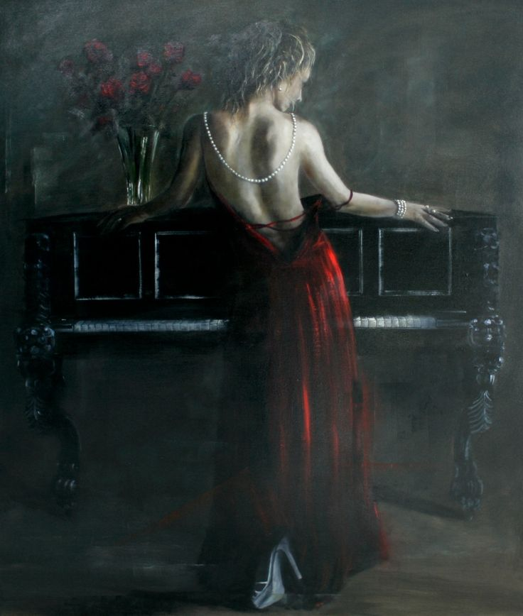 "Gavin Collins Paintings Title: ""Crimson Yearning"""