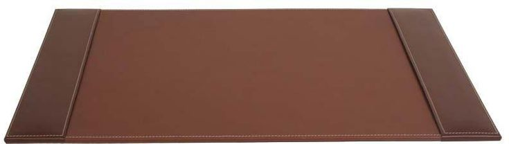 Rustic Leather 25x17 Desk Pad with Side Rails P3202 by Decasso