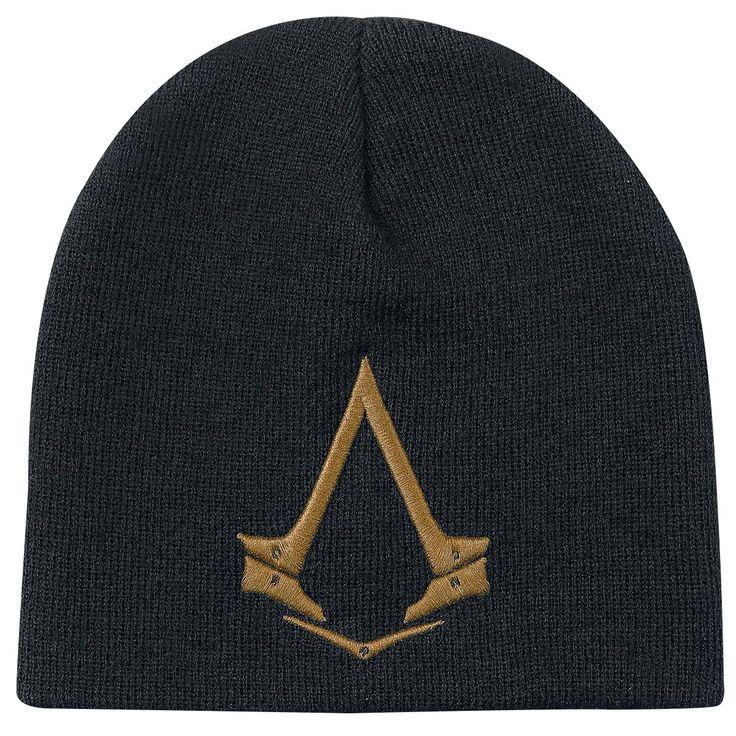 """Berretto nero """"Golden Logo"""" di #AssassinsCreed."""