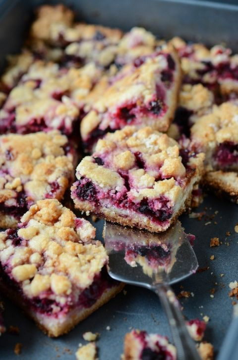 Blackberry Pie Bars- made these yesterday and they are very good. Love the lemon taste in them