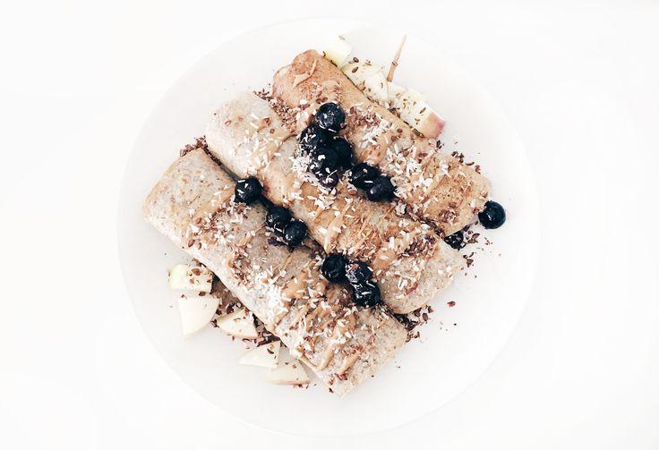 Gezonde gevulde pannenkoeken (zuivelvrij) - dairy free filled pancakes!