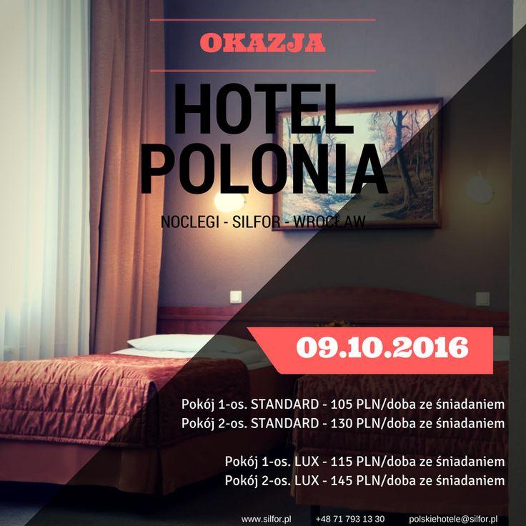 Okazja na tani nocleg we Wrocławiu od 9 października! Pamiętaj, z kartą Silfor jest jeszcze rabat 10% !  Rezerwacja: