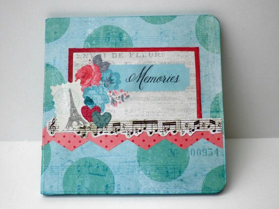 Photo album Square book Premade pagesRomantic by sweetpaperlife