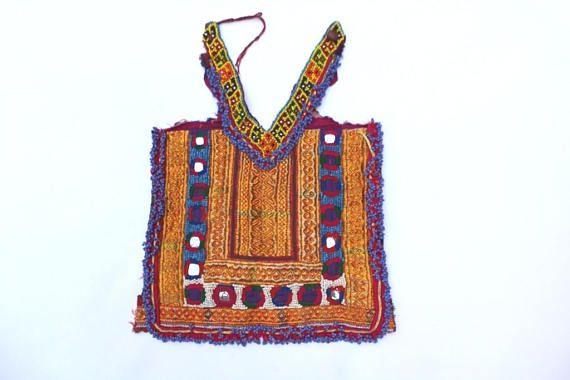 Sewing Craft Indian Vintage Banjara Neck Yoke embroidery applique patch
