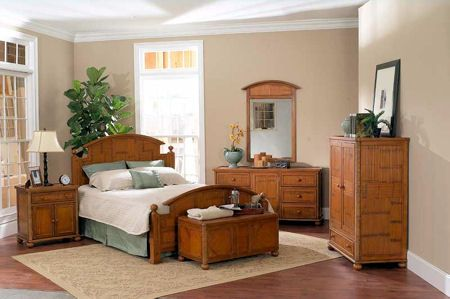 The Mandalay Suite Is Consturcted Of Solid Mahogany And Bamboo Inlay Bamboo Is Both The