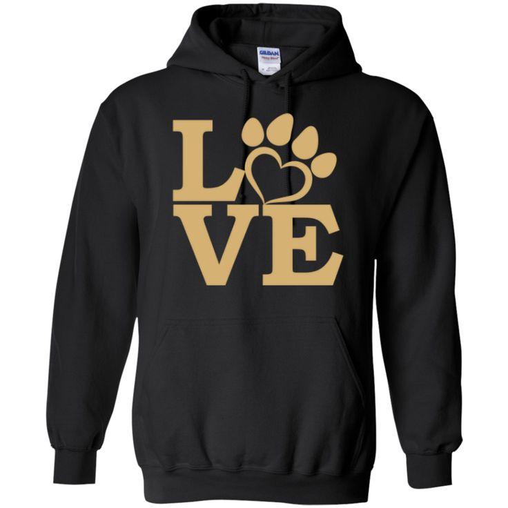 Love Paw Gold Hoodie