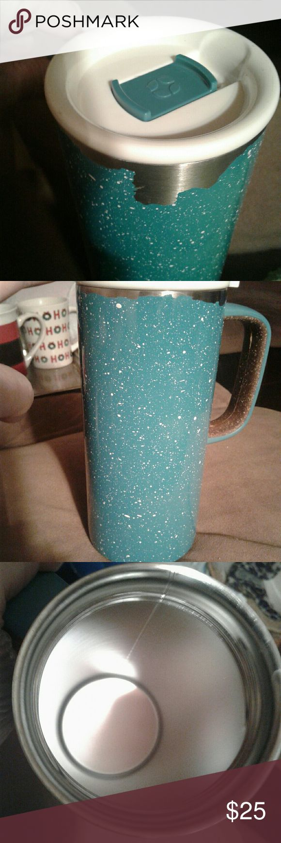 NWOT  TALL GALVANIZED ALUMINUM Very nice carry cup . Aluminum Carry Cup Accessories