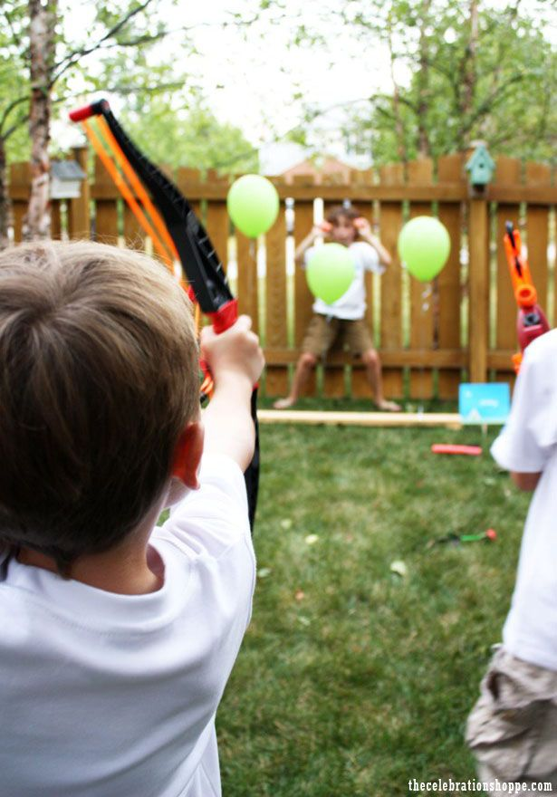 camping out birthday | archery (NERF of course… and with his brother teasing him behind the ...