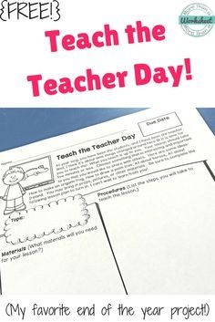 This is a fun end of the year activity. Students teach a lesson about anything they choose! Great for practicing speaking and listening skills. You will be amazed at what you learn from your students! More Than a Worksheet