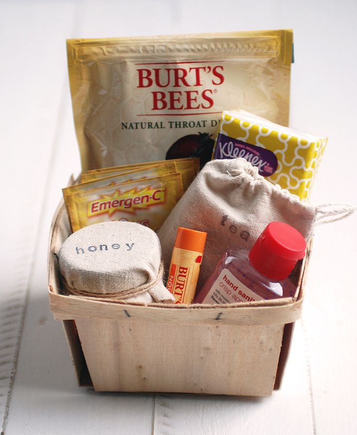 Get Well Kit - Create a get well basket to give to a friend or loved one that's not feeling well.