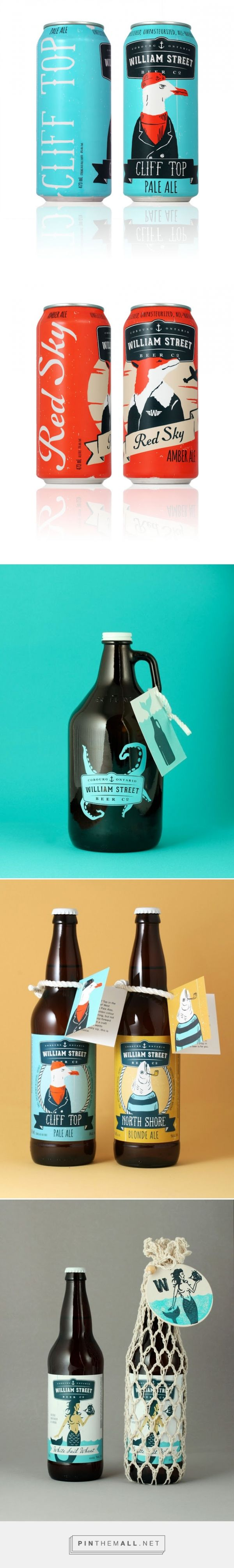 William Street Beer Co. packaging designed by Freshly Packaged - http://www.packagingoftheworld.com/2015/09/william-street-beer-co.html