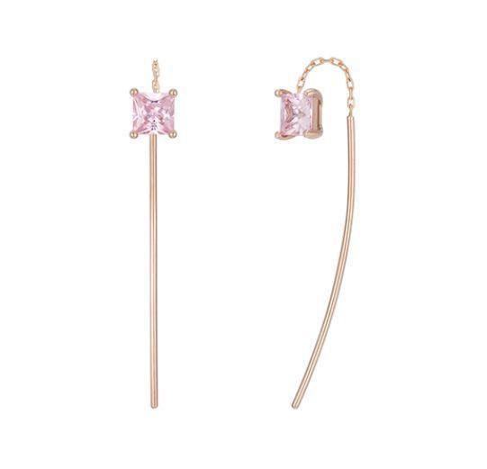 """J Estina"" Made in Korea ""14k R G Curva Rose L'Arte Earrings"" Drop Earrings | eBay"