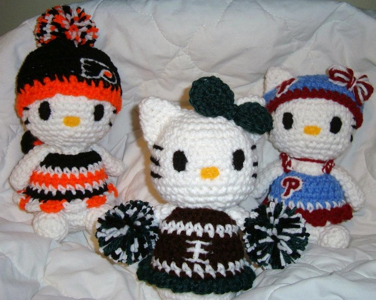 iBcraftie Crochet Original Designs Philly Sports Kitties