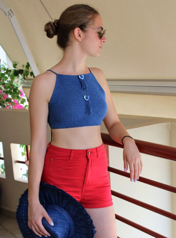 Crochet crop top Crop tops for teens Crochet by MariliartbyM