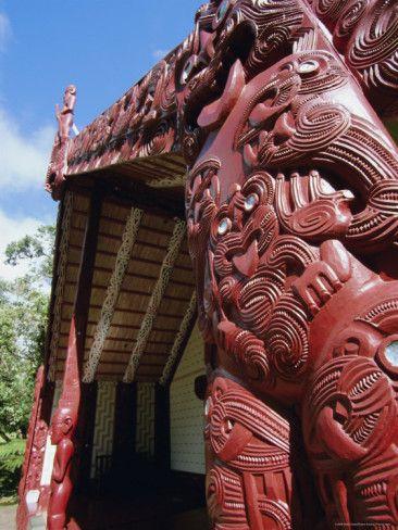 Maori Carving, Whare Runanga, Waitangi,  New Zealand