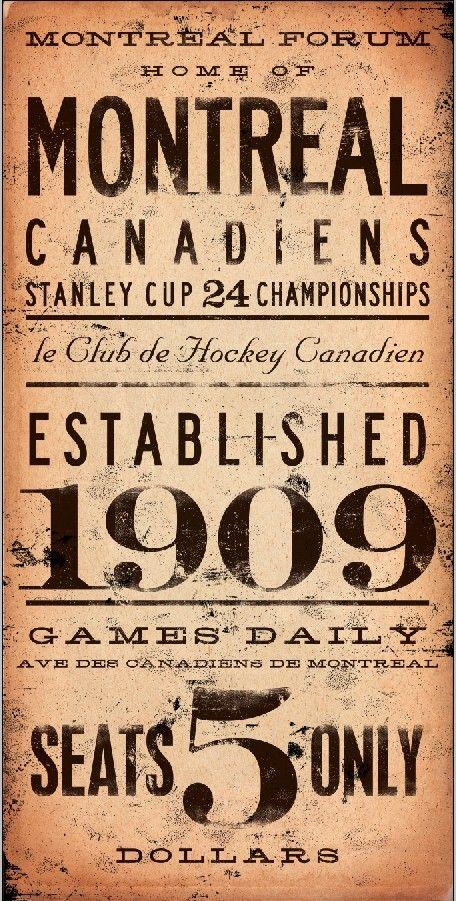 Montreal Canadiens hockey club typography by geministudio on Etsy