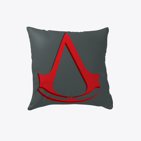 Assassin's Creed Pillow #Boosted Pillow Dark Grey T-Shirt Front