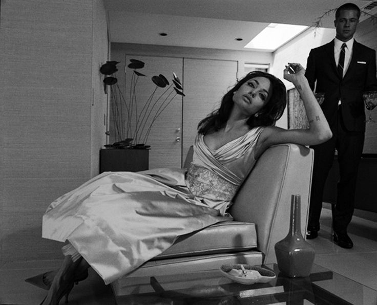 Brad Pitt and Angelina Jolie ph Steven Klein for W Magazine July 2005