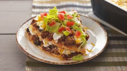 Layered Enchilada BakeKraft Recipe, Layered Enchiladas, Fun Recipe, Mexicans, Enchiladas Baking, Kraft Food, Dinner Ideas, Cooking, Favorite Recipe