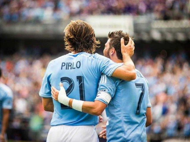 Amazing Andrea Pirlo assist  David Vila gorgeous finish = NYCFC goal (Video)