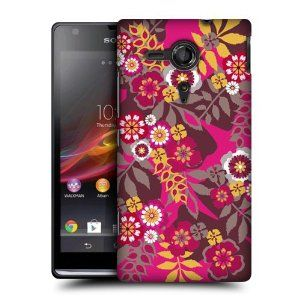 Amazon.com: Head Case Magenta Botanical Ornament Back Case Cover For Sony Xperia Sp C5303: Cell Phones & Accessories