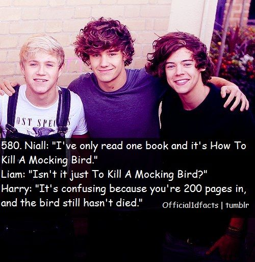 """The bird still hasn't died""...oh jeez Harry... not one of them get what the title is refering to..."
