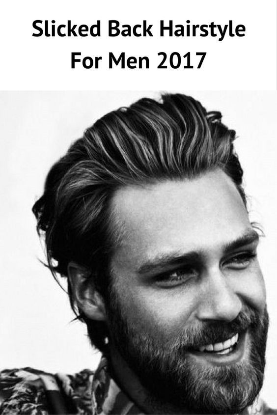 Slicked Back Hairstyle For Men 2017 #mens #hairstyles