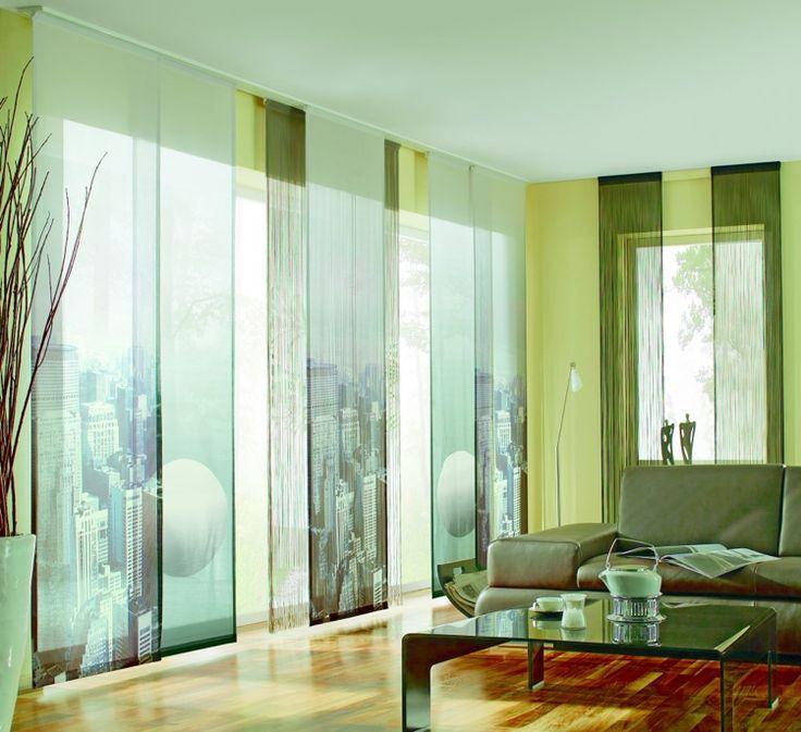 16 besten Gardinen Bilder auf Pinterest Gardinen, Raumteiler und - gardinen modern wohnzimmer schwarz weis