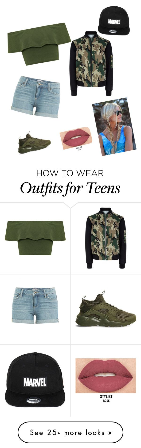 """Untitled #188"" by tavarezstyles8 on Polyvore featuring Paige Denim, WearAll, NIKE, New Look and Smashbox"