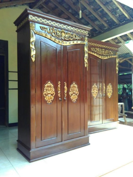 Jual Almari Pakaian Jati 2 Pintu Mewah Faiz Furniture