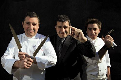 Joan Roca and brothers Josep and Jordi