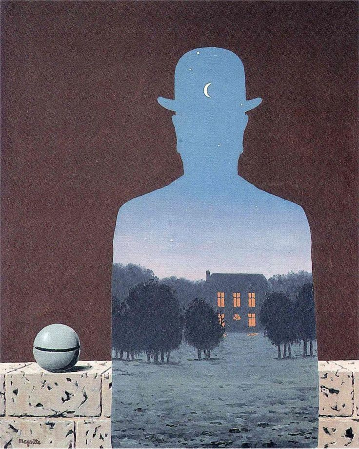 "Rene Magritte has always been one of my favorite artists, since I saw a ""showing"" of his work at MOMA in NYC.  Amazing paintings!"