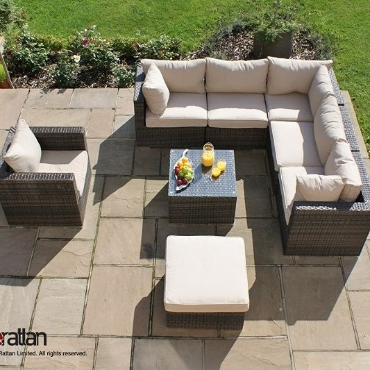 Beautiful Corner Sofa Modular Set Outdoor Garden Furniture Is Made From  Weatherproof Rattan, This Is Completely No Hassle Maintenance Free  Furniture Which ...