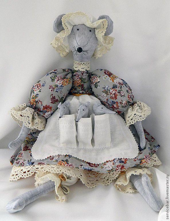 Купить Мышь текстильная Матильда Карловна - мышь, мышка, игрушка ручной работы, игрушка текстильная, мышь игрушка.