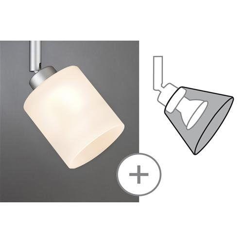 Paulmann 600.04 Lampenschirm, Glas, wei�