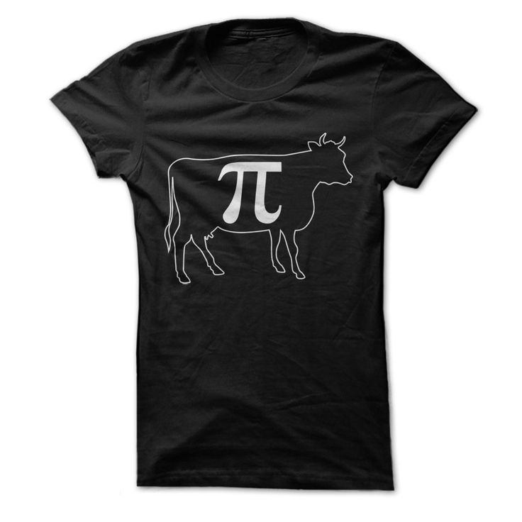 Pi is so cool that even cows love it. Puns are so cool that everybody with a sense of humor loves them. Put the two together and you've got this clever tee that not everyone will get. Those who do wil