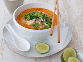 Michelle Bridges Chicken & Broccolini Laksa