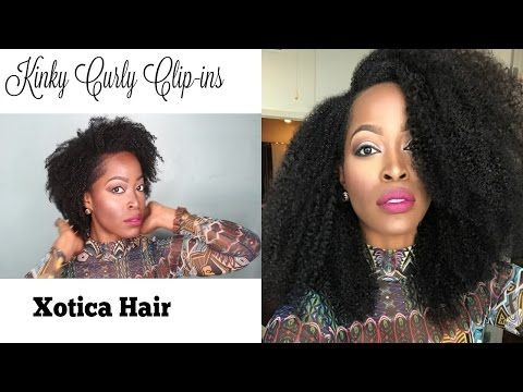 How to Style Kinky Curly Clip ins : Xotica hair |Low pony tail Low Bun | Big Diana Ross Hair - YouTube