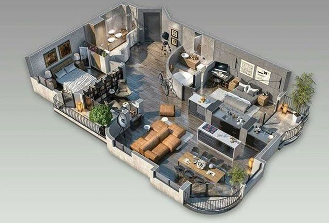 Discovered By Ema Find Images And Videos About Home Floor And Plan On We Heart It The App To House Layout Plans Small House Design Plans Sims House Design